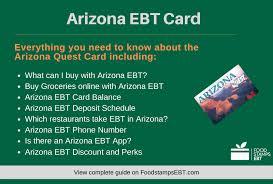arizona ebt card 2020 guide food