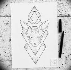 эскиз тату сфинкс 20082019 121 Sphinx Tattoo Sketch Tatufoto