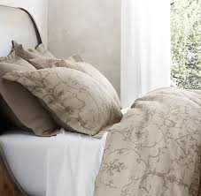 italian vintage trellis print bedding collection in dune duvet covers