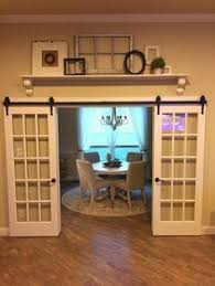 dining room french doors office. French Doors On A Barn Door Rail .. And Add Shelf Above Dining Room Office C