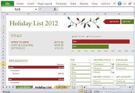 budget planner excel template holiday shopping budget planner template for excel