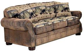 Timber Ridge 633 Bears Sofa by Lacrosse Furniture The Log