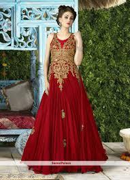 Red Net Dress Design Beautiful Net Embroidered Work Designer Gown Designer