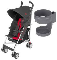 Купить прогулочная коляска <b>Maclaren</b> Triumph Charcoal, Scarlet с ...