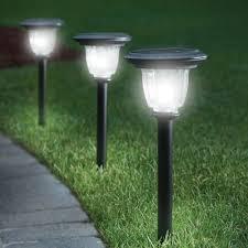 The Best Solar Walkway Light  Hammacher Schlemmer  For The Solar Powered Patio Lights