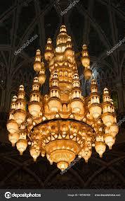 mu oman november 30 2017 chandelier of sultan qaboos grand mosque in mu oman photo by nmessana