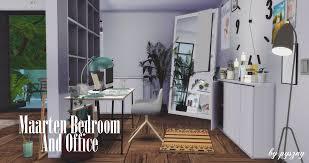 Pyszny Design Sims 4 Maarten Bedroom Office New Set