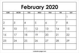February 2020 Calendar Template Printable February 2020 Printable Calendar Template Printable