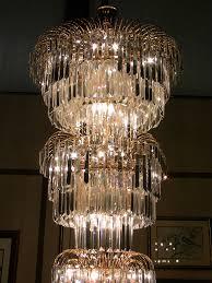 art deco style multi layered swarofski crystal chandelier extra large