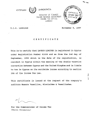 Residence Certificate Format Best Of Cyprus Pany Sample Certificates
