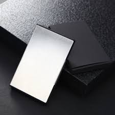 Stainless Steel Business Cards Eissely Pocket Stainless Steel Metal Business Card Holder Case Id Credit Wallet Wh