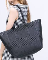 zara woman combined office. Image 7 Of PERFORATED SHOPPER BAG From Zara Woman Combined Office