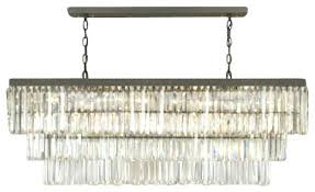 rectangular glass chandelier style art crystal fringe w x h stock smoke