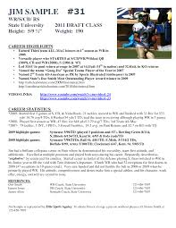 Basketball Player Resume Sample Best Photos Of Athlete Bio Template Football Player Resume 4