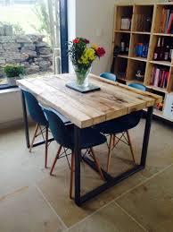 love the table construction reciclado industrial chic 4 6 plazas de madera maciza y por rccltd