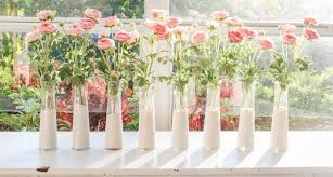 centerpieces dip dyed dollar vases and faux pink roses valentines day