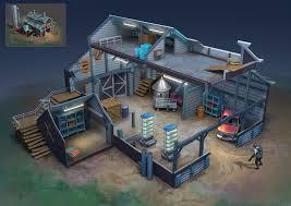 Farm Design Model Artstation The Farm Design For A Fps Game Chao Zhao