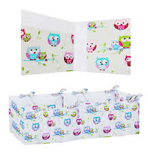 360 padded per cot bed little owls collection vizaro