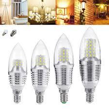 e27 e12 5w 7w 9w 12w smd 2835 pure warm white sliver led candle light bulb chandelier lamp ac85 265v