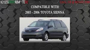 How To Replace Toyota Sienna Key Fob Battery 2003 2006 - YouTube