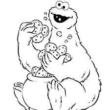 Small Picture stunning glamorous cookie monster coloring page new Kids