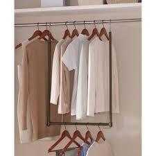 Closet Rod Extender Custom Mainstays Expanding Closet Space Bronze bigdealsmall