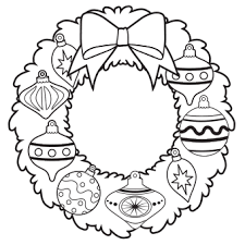 Small Picture Ornament Wreath Coloring Page Free Christmas Recipes Coloring