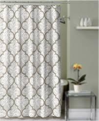 shower curtain taupe and gray quatrefoil damask decorative fabric bathroom com