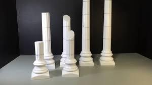 Thermocol Pillar Design 042 Diorama Props Project Temple Pillars