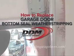 how to replace garage door rollersHow to Replace Garage Door Bottom Seal Weatherstripping  YouTube
