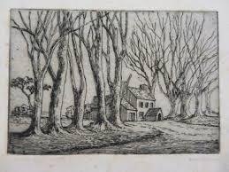 ENGLISH SCHOOL OLD print etching signed Lilian Sheldon - £5.10 ...
