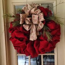 wreaths 75 ideas for festive fresh burlap or mesh wreaths