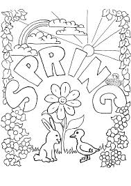 Spring Coloring Pages Free Printable Picture Free Printable Spring