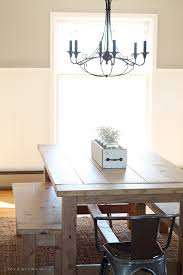 this large farmhouse table seats 8 and adds great rustic charm to your dining room