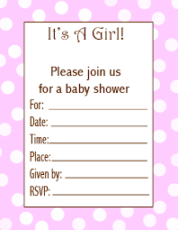 baby shower invitations for girls templates baby shower invitations for girls template hnc