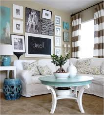 Wall Collage Living Room Cozy Living Room Decor Ovale Brown Lacquered Wood Table Cream Wall