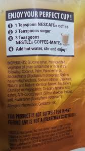 All products from coffee mate ingredient label category are shipped worldwide with no additional fees. What Is The Milk Derivative Contained In Nestle S Coffee Mate The Label Says It Is Non Dairy Quora