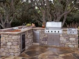 Outdoor Kitchen Refrigerator L Shaped Outdoor Kitchen Dimensions Stainless Steel Double Side