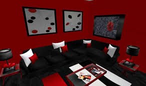 red room with black furniture. red and black furniture for living room interior design home remodeling fresh with
