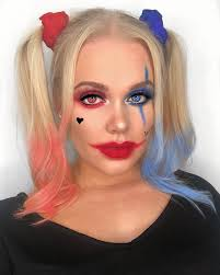 this harley quinn makeup look is easy enough to diy