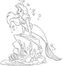 Kids N Fun Kleurplaat Disney Prinsessen Ariel De Kleine Zeemeermin