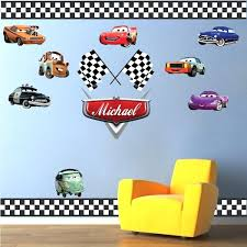 wall stickers for boy room personalized boys race car name decal car wall decals automotive decals