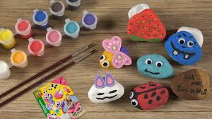 rock painting coloring stones for creative kids steine bemalen you