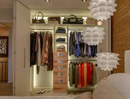 custom closet renovation with led lighting