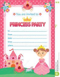 Princess Birthday Party Stock Vector Illustration Of Children