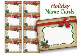 Holiday Name Holiday Name Cards Labels Digital Name Tags Christmas Food Label Instant Download Printable Digital File Jar Labels Red Bow Tea Party Tag