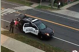 in this video posted by john alfredo a danbury police officer stopped their police cruiser