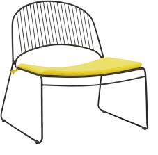 contemporary cb2 patio furniture. Humpback Matte Black Lounge Chair With Yellow Seat Cushion | CB2 Contemporary Cb2 Patio Furniture