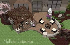 backyard patio design with pergola