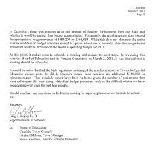 Tony Perugini Listens Too Special Ed Shortfall Update Letter To Tc